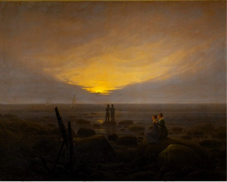 CASPAR DAVID FRIEDRICH, MOONRISE OVER THE SEA (1821)